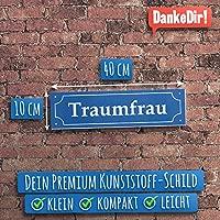 traumfrau placa de calle 40 x 10 cm de plástico Cartel ...