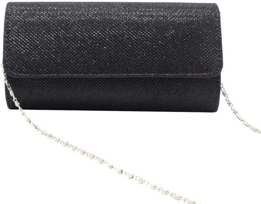 zzz Bright Crystal Bag Clutch Bag Damen Tasche Messenger Bag Chain Bag Abendtasche Clutch Bag Clutch Bag Dinner Bag Damen schön (Farbe : Gold) Silver