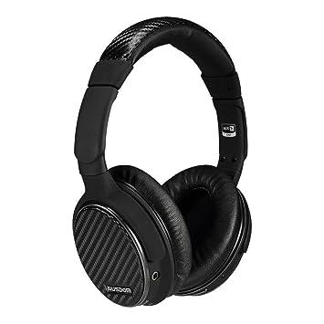 AUSDOM M05 Auriculares Bluetooth con micrófono Hi-Fi bajo profundo auriculares inalámbricos almohadillas cómodas 20 horas de juego para computadora y ...