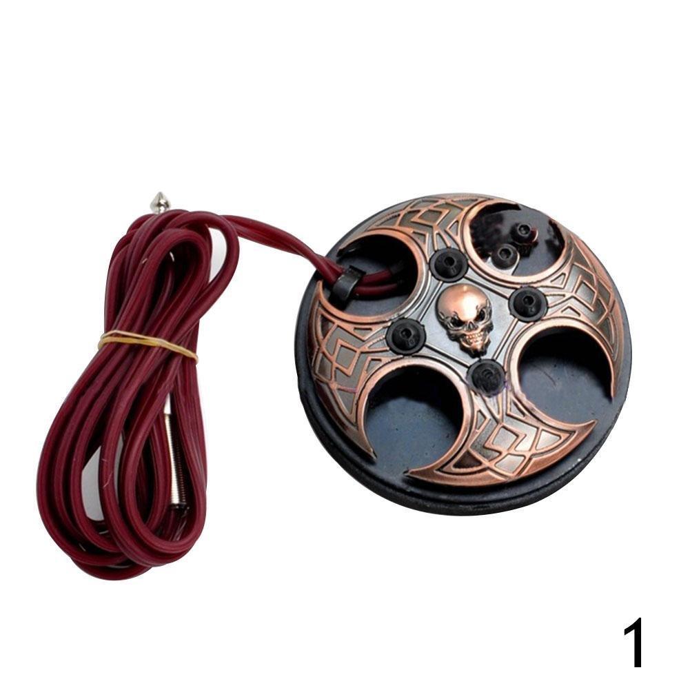 Gracefulvara 1 Pcs Skull Foot Pedal Copper Supply For Tattoo Machine £¨1#£©