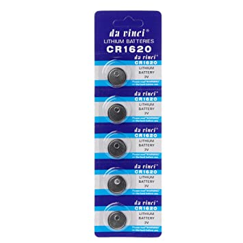 Deendeng-UK 5 Pilas de botón de Litio CR1620, 3 VECR1620 DL1620 5009LC, Mando a Distancia para Reloj CR 1620: Amazon.es: Electrónica