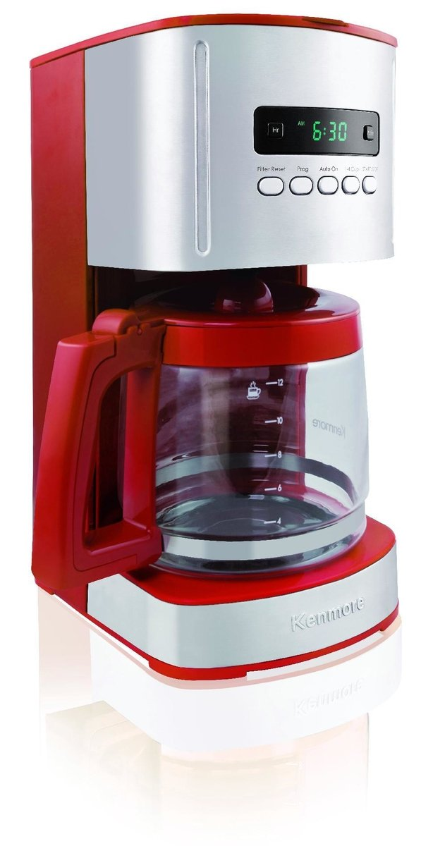Kenmore 00840707 12 Cup Programmable Coffee Maker, Red by Kenmore