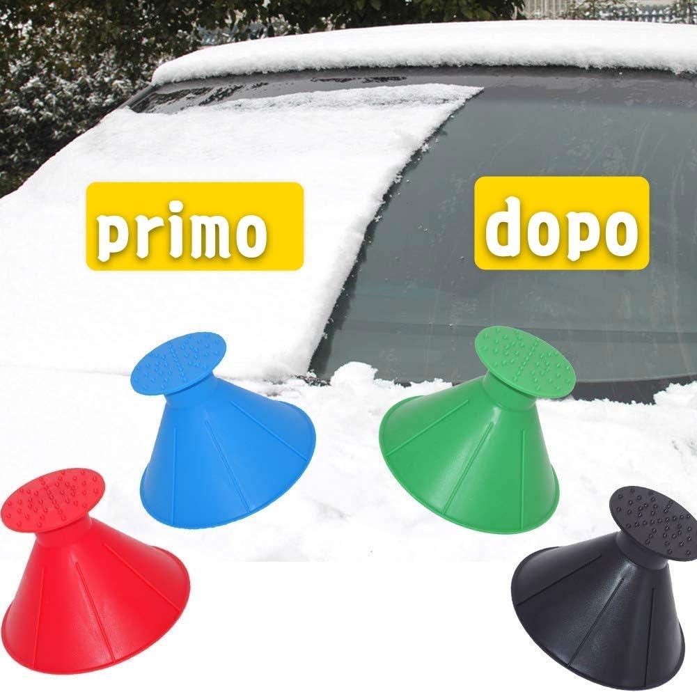 Der Veocone Eiskratzer 4 Stück Schneeschaufel Für Windschutzscheibe Konisch Multifunktion Trichter Schneeschaufel 2 In 1 Schneeschaufel Für Auto Winter Auto