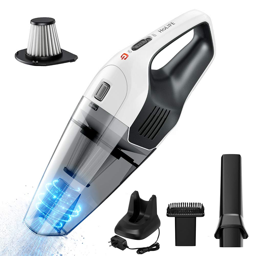 Handheld Vacuum Cordless, Holife 6KPA Hand Vacuum Cleaner Rechargeable Hand Vac, 14.8V Lithium with Quick Charge, Lightweight Wet Dry Vacuum for Home Pet Hair Car Cleaning