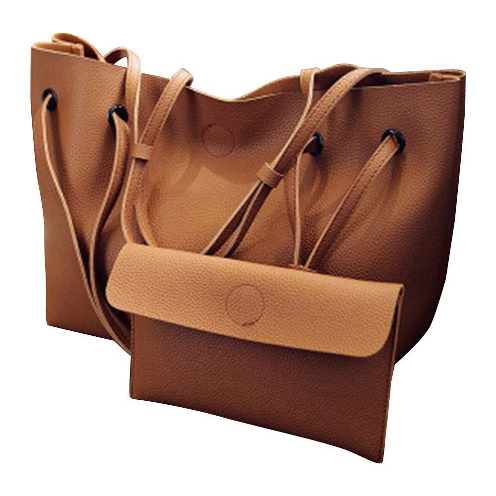 Refaxi Women Bags Purse Shoulder Handbag Tote Messenger Hobo Satchel Bag Cross Body (Brown)