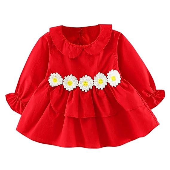 Vestidos Bebé,K-youth® Ropa bebé niñas bebé otoño manga larga princesa vestido