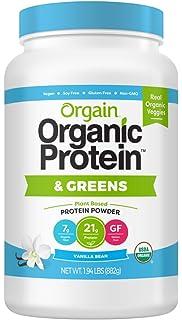 Orgain - Organic Protein & Greens Blend Powder Vanilla Bean - 1.94libras.