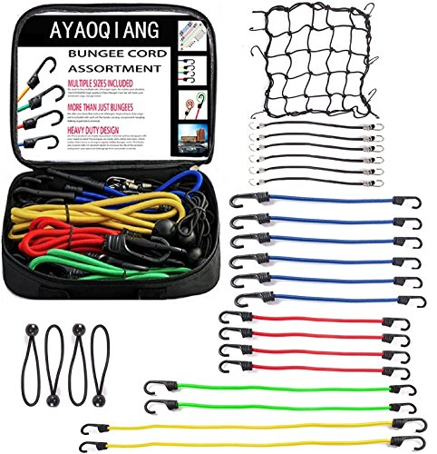 Climbing & Caving 6mm X 250mm Bungee Cord Hook Ties Shock Cord Loop With Plastified Metal Hook Reliable Performance