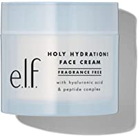 e.l.f. Holy Hydration! Face Cream - Fragrance Free, Moisturizes & Softens Skin, Quick-Absorbing & Ultra-Hydrating, 1.8…