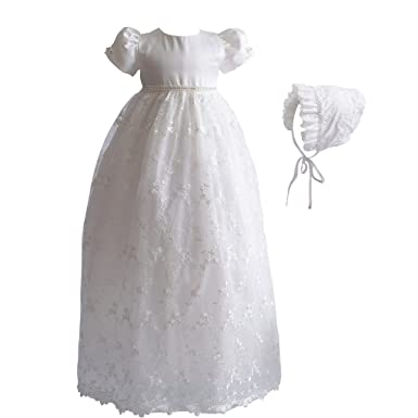 5cd7b7996 Amazon.com  Romping House Baby Girls Floral Lace Empire Waist ...