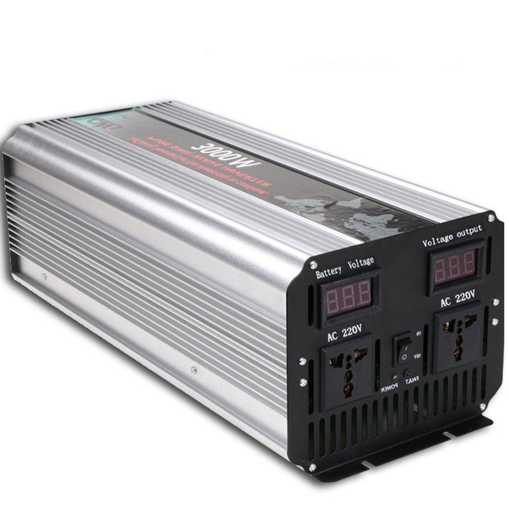 3000W Power Inverter DC 12V to 110V AC Pure Sine Wave Inverter Converter Single Phase Peak 6000W 50Hz/60Hz For Car home olar energy