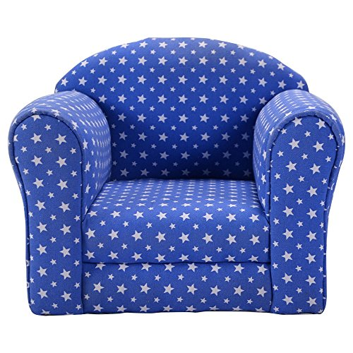 Blue w/Stars Kid Sofa Armrest Chair Couch Children Living Room Toddler Furniture by Unknown