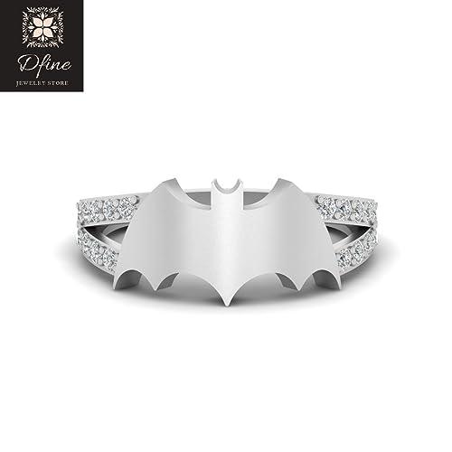 Amazon Com Sterling Silver Batman Inspired Womens Ring Fantasy