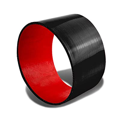 3.5 inches Straight Turbo/Intercooler/Intake Piping Coupler Silicone Hose (Black & Red): Automotive