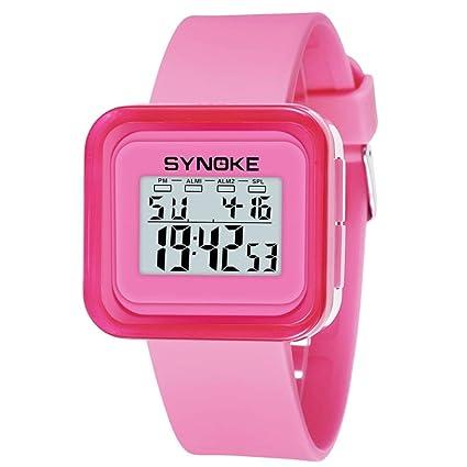 Longra☆ Niños Niños Estudiante Reloj Deportivo a Prueba de Agua LED Reloj Fecha Digital Smartwatch