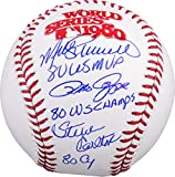 "Pete Rose, Steve Carlton & Mike Schmidt Philadelphia Phillies Triple Autographed 1980 World Series Baseball with ""80 NL CY, 80 WS CHAMPS, 80 WS MVP"" Inscription - Fanatics Authentic Certified"