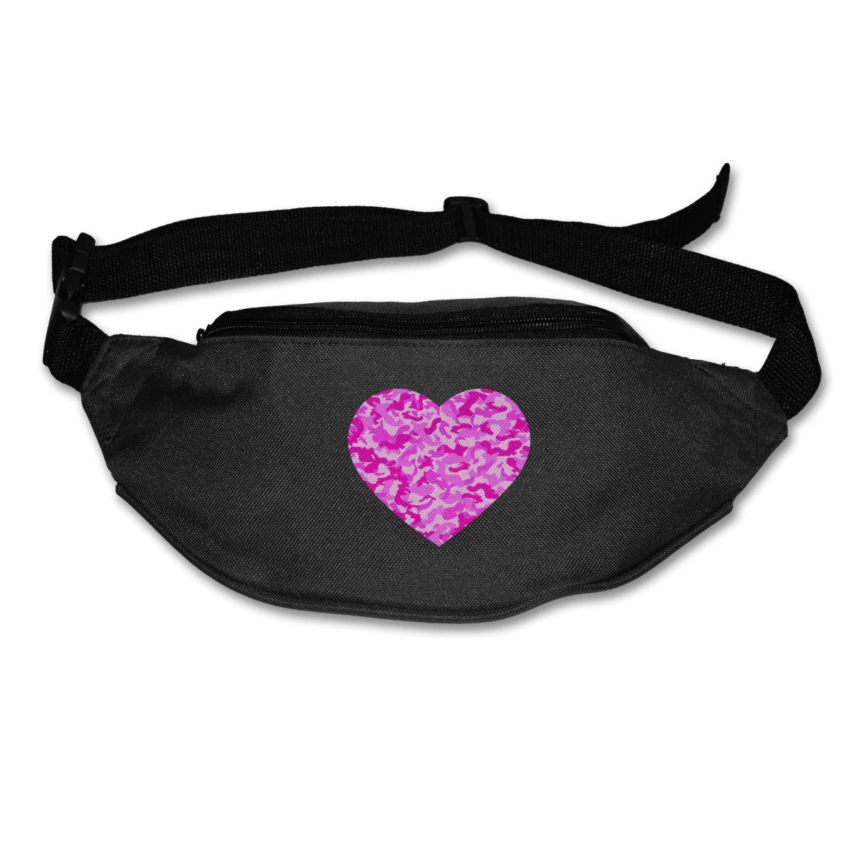 Pink Camo Love Sport Waist Pack Fanny Pack Adjustable For Hike