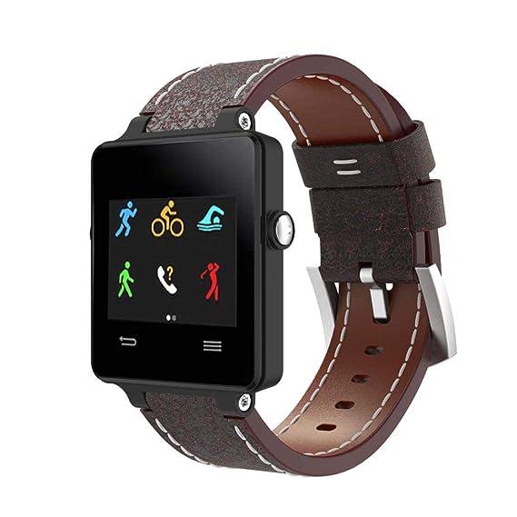 Bestow Reloj de Pulsera de Cuero de Lujo Garmin Vivoactive Acetato Reloj Pulsera Banda Correa Electrš®nica Gadgets(Marrš®n): Amazon.es: Ropa y accesorios