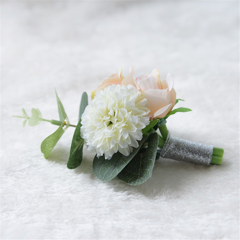 Pack of 1 Boutonniere Buttonholes Groom Groomsman Best Man Rose Wedding Flowers Accessories Prom Suit Decoration