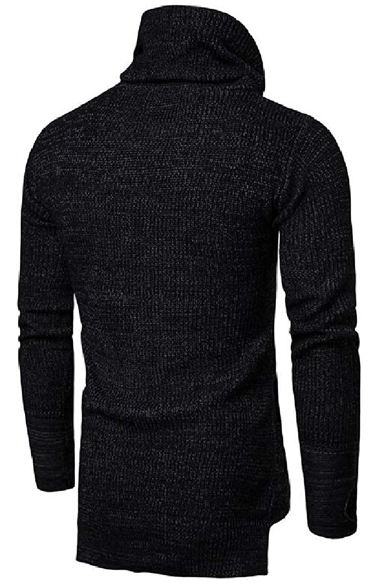 HTOOHTOOH Mens Turtleneck Sweater Long Sleeve Cozy Thick Christmas Pullover Knitwear