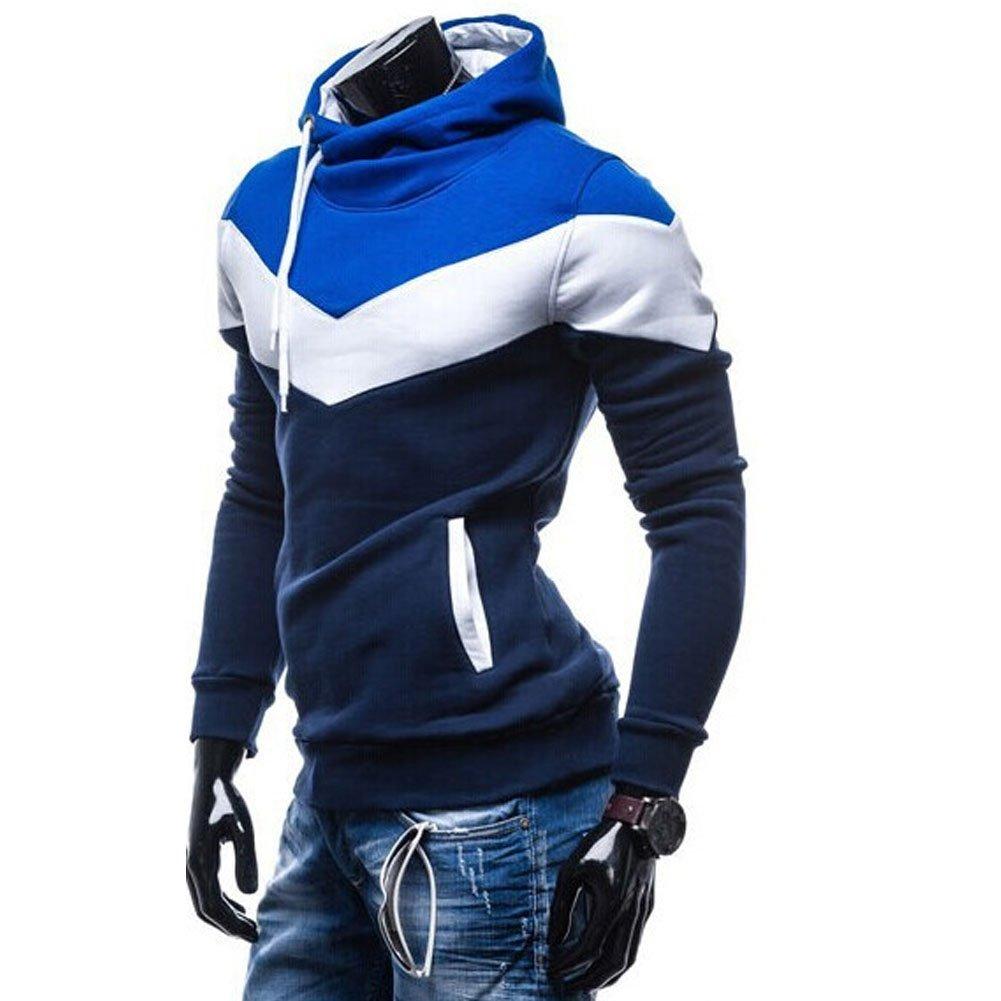 ROBO Hombres Sudadera con Capucha Manga Larga Multicolor Camiseta Hoodie Pullover Tops, EU 40-48