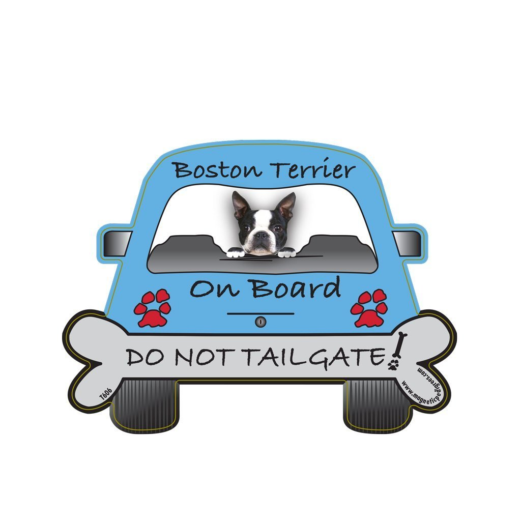 Boston Terrier Tailgate Custom Shaped Magnet Pet Gifts USA COMINHKR074090