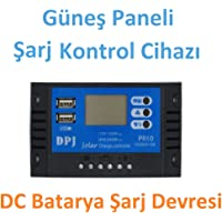 Robotekno 568L1 Güneş Paneli Şarj Kontrol Cihazı 12V 24V DC Batarya Şarj Devresi
