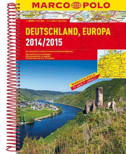 MARCO POLO Reiseatlas Deutschland 2014/2015 1:300 000, Europa 1:4 500 000