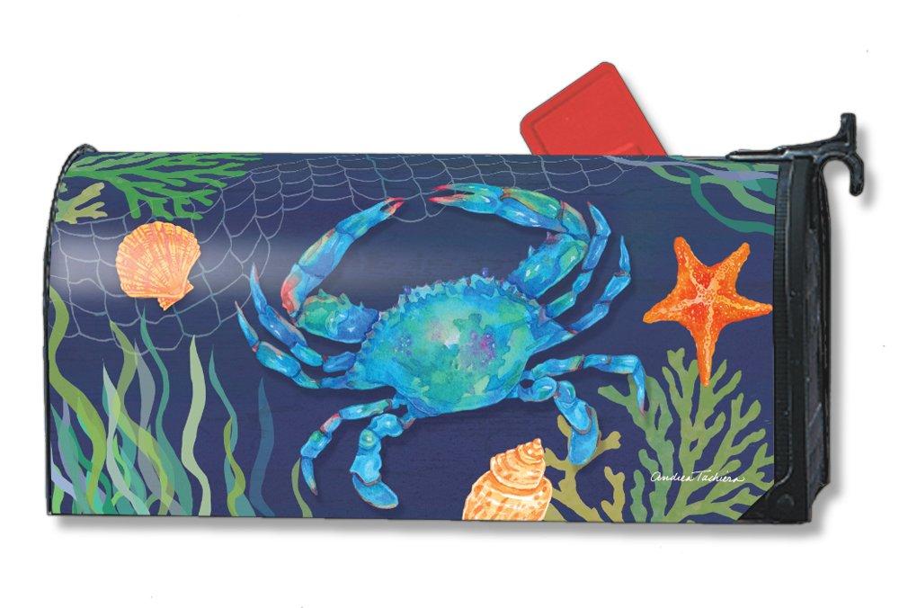 Studio M Mailbox Cover MailWrap - Summer Tropical Beach Sea Life (Blue Crab)