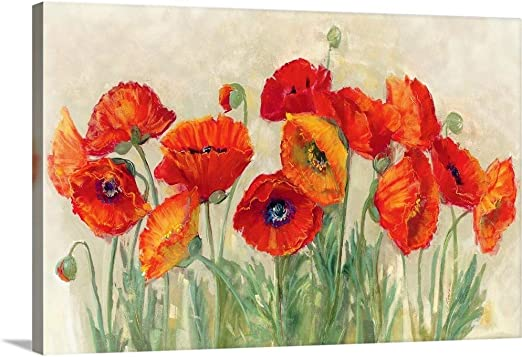 The Last Poppy Picture Floral Flower Canvas Wall Art Picture Print