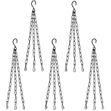 Oshi Greens Iron Metal Chain for Hanging Pots (30Cm Length) - Pack of 5