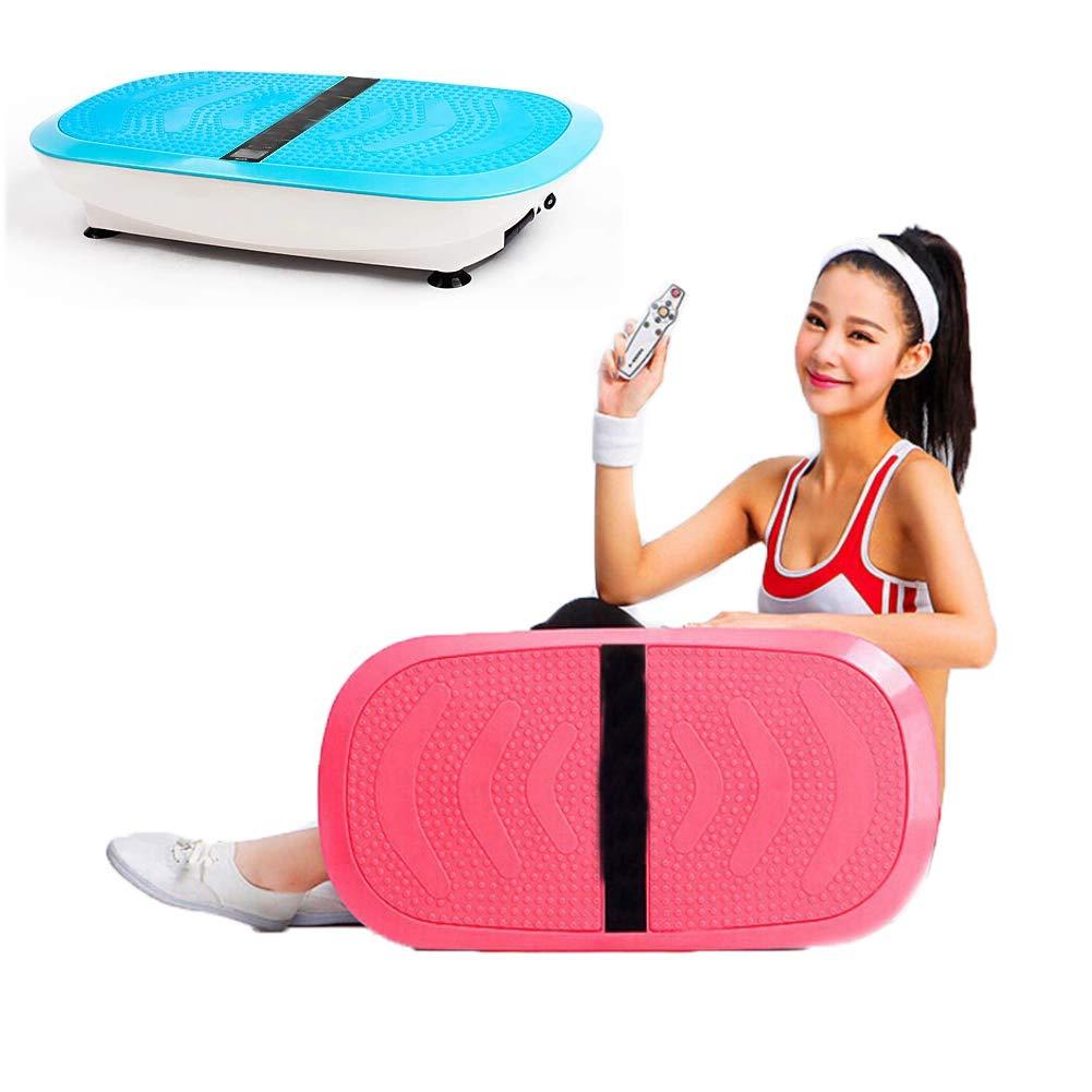 振動マシン ダイエット器具低脂肪家族体操用フィットネス振動プラットフォーム150(Kg)ラバーフットパッドロードベアリング  Blue B07PHT77LG