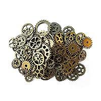 Aoyoho 100 gramos surtidos antiguos Steampunk engranajes encantos del reloj del reloj de rueda dentada para hacer a mano