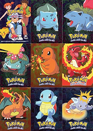 POKEMON THE FIRST MOVIE 1998 TOPPS PARALLEL SILVER FOIL INSERT CARD SET OF 72 Photo - Pokemon Gaming