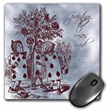 3dRose LLC 8 X 8 X 0.25 Inches Vintage Alice in Wonderland PaInting the Roses Red Mouse Pad (mp_99320_1)