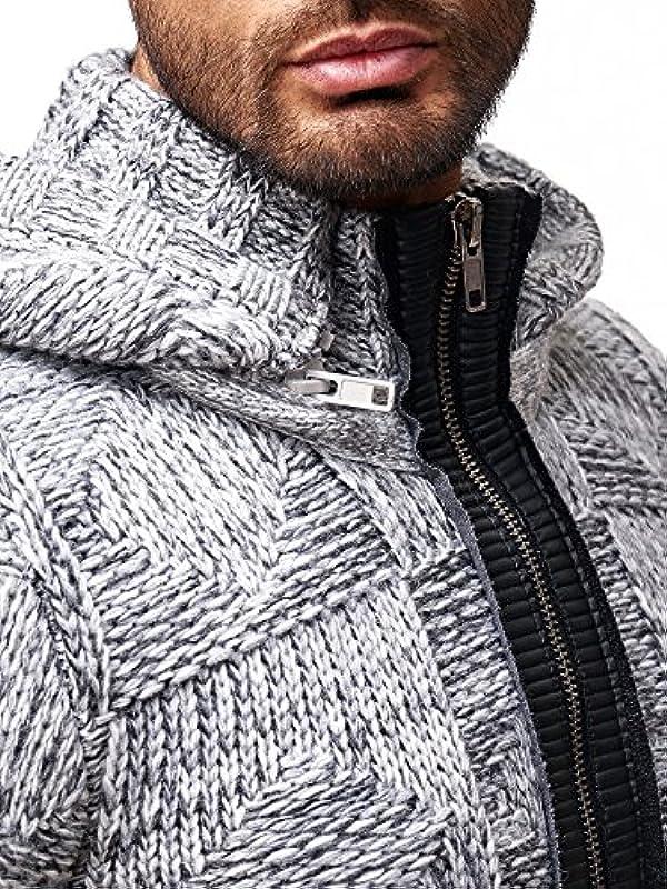 Red Bridge męska kurtka dzianinowa sweter dziany gruby dzianina bluza sweter z kapturem oversize: Odzież