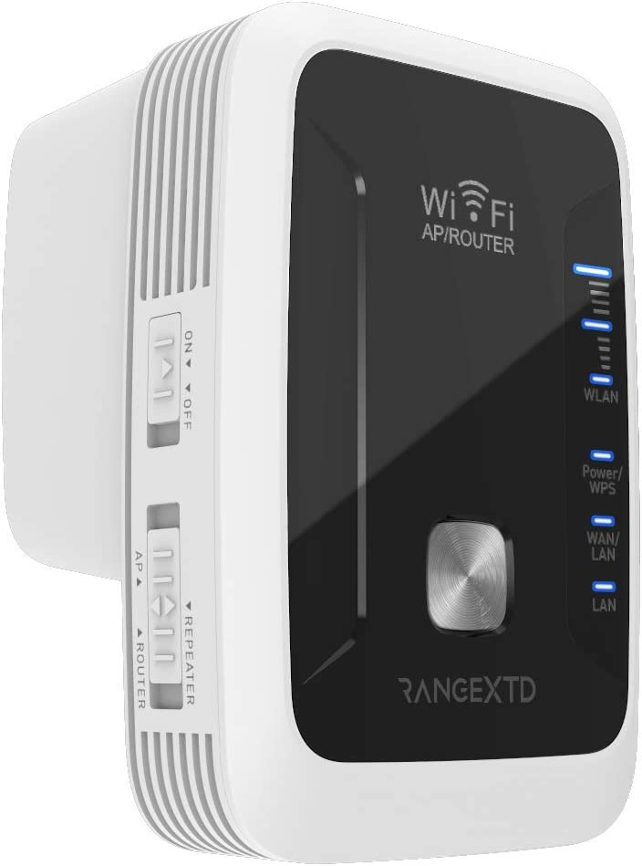RangeXTD WiFi Extender 2-Antenna System Single-Push WPS Button Up to 300mbps Speed Increase WiFi Range Extender