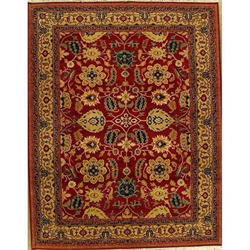Agra Gold Area Rugs - Red & Gold Agra Rug - 9'2