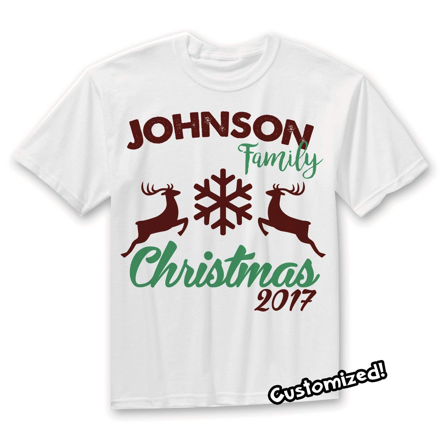 Personalized Family name New Year family shirts Christmas celebration family t-shirts Best Christmas Ever family shirts
