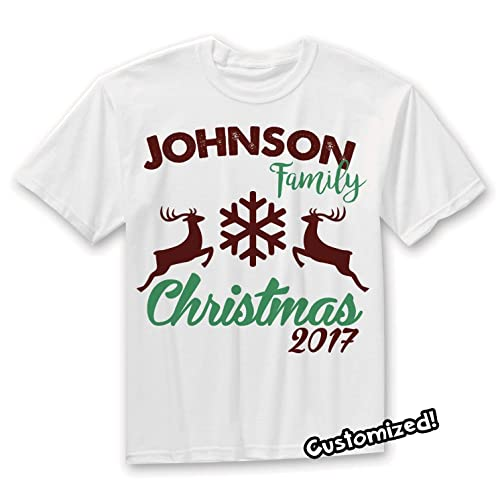201c5d05 Amazon.com: Family Christmas Personalized tshirt, Family Reunion Shirts,  Holiday Family Reunion T-Shirts: Handmade