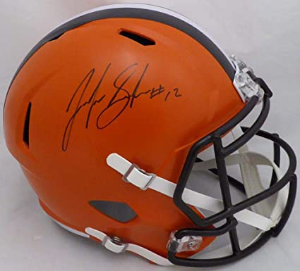 e4cc71267 Amazon.com: Josh Gordon Autographed Helmet - Full Size Speed Replica Beckett  BAS Stock #134331 - Beckett Authentication: Sports Collectibles