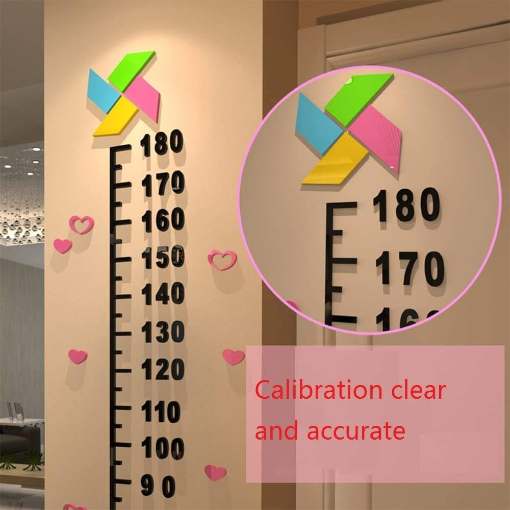 Baby Height Growth Ruler Tree BOD 3D Wind Body Height Ruler Nursery Star Wall Decal Childrens Room Decoration