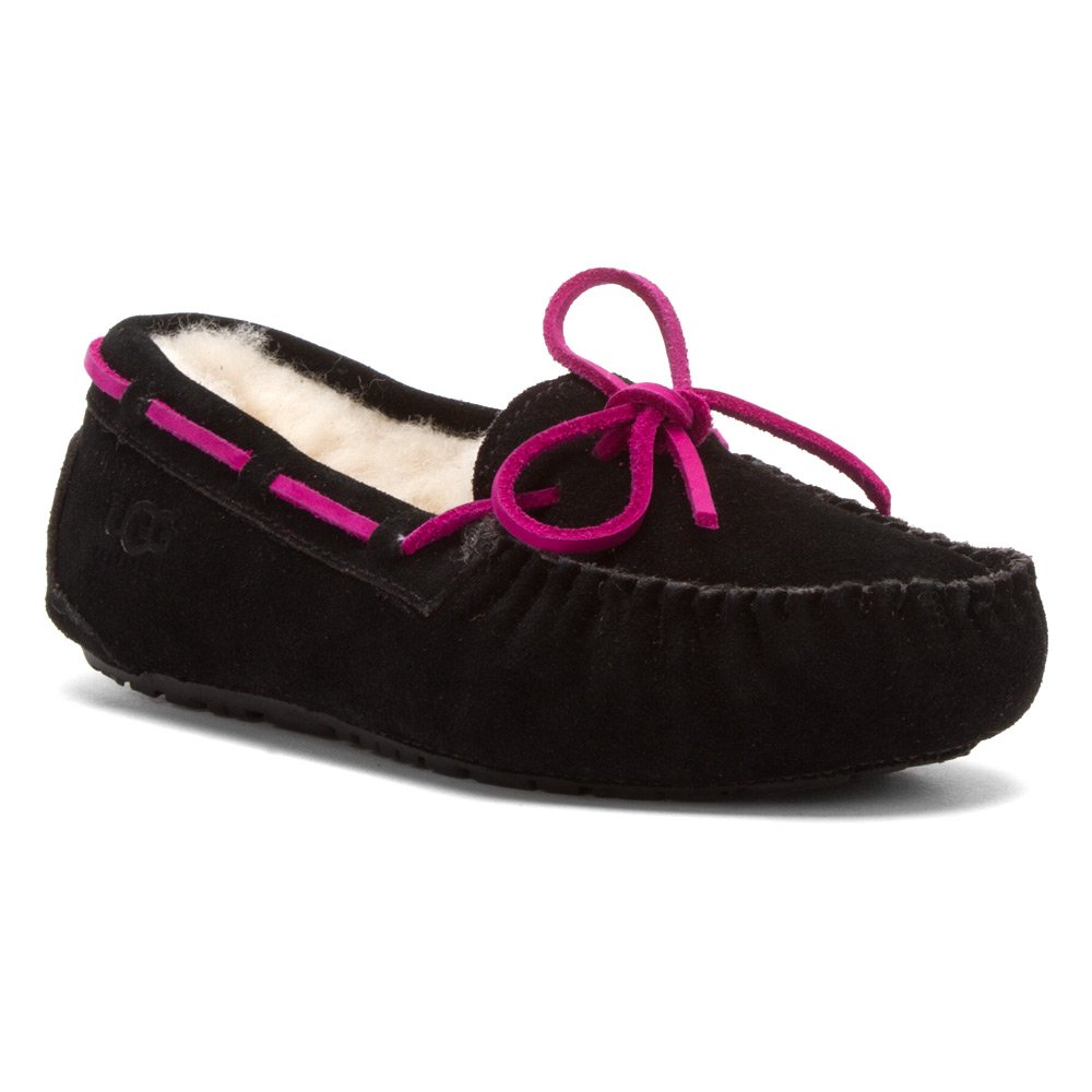 32285b2712c Ugg Australia Girls-Big Kids Dakota Black Slippers 5 M US