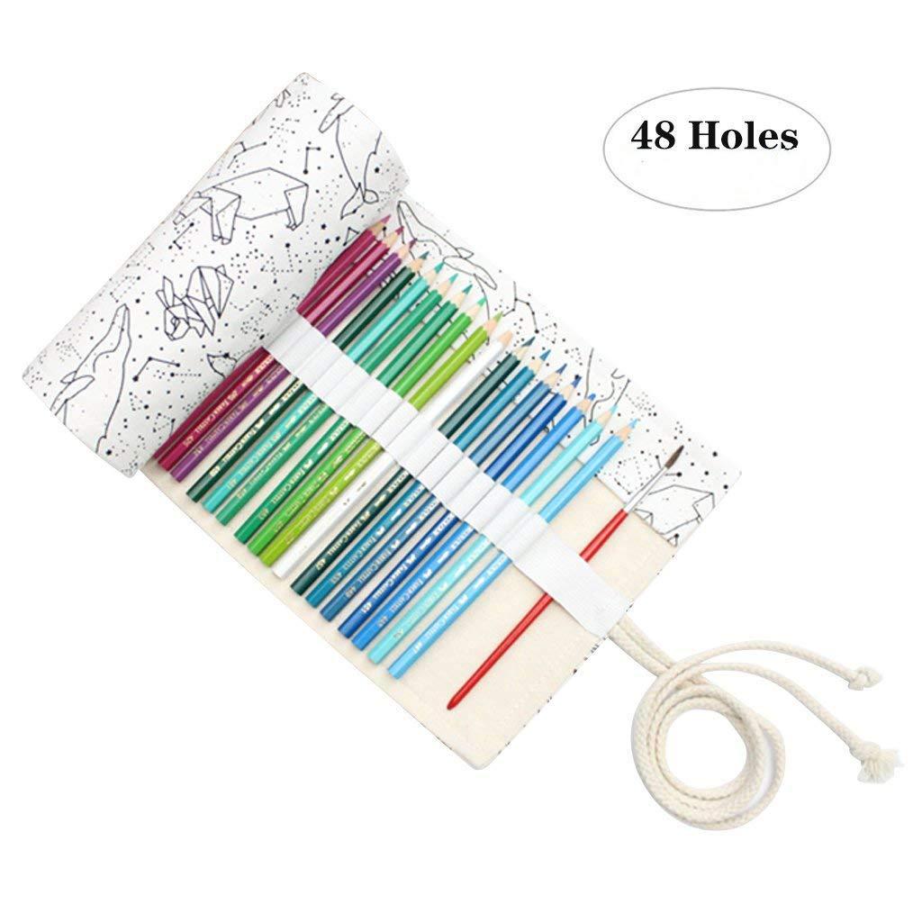 Leinwand Stifterolle Pencil Wrap Roll up Holder Tasche Federmappe 36 Loch