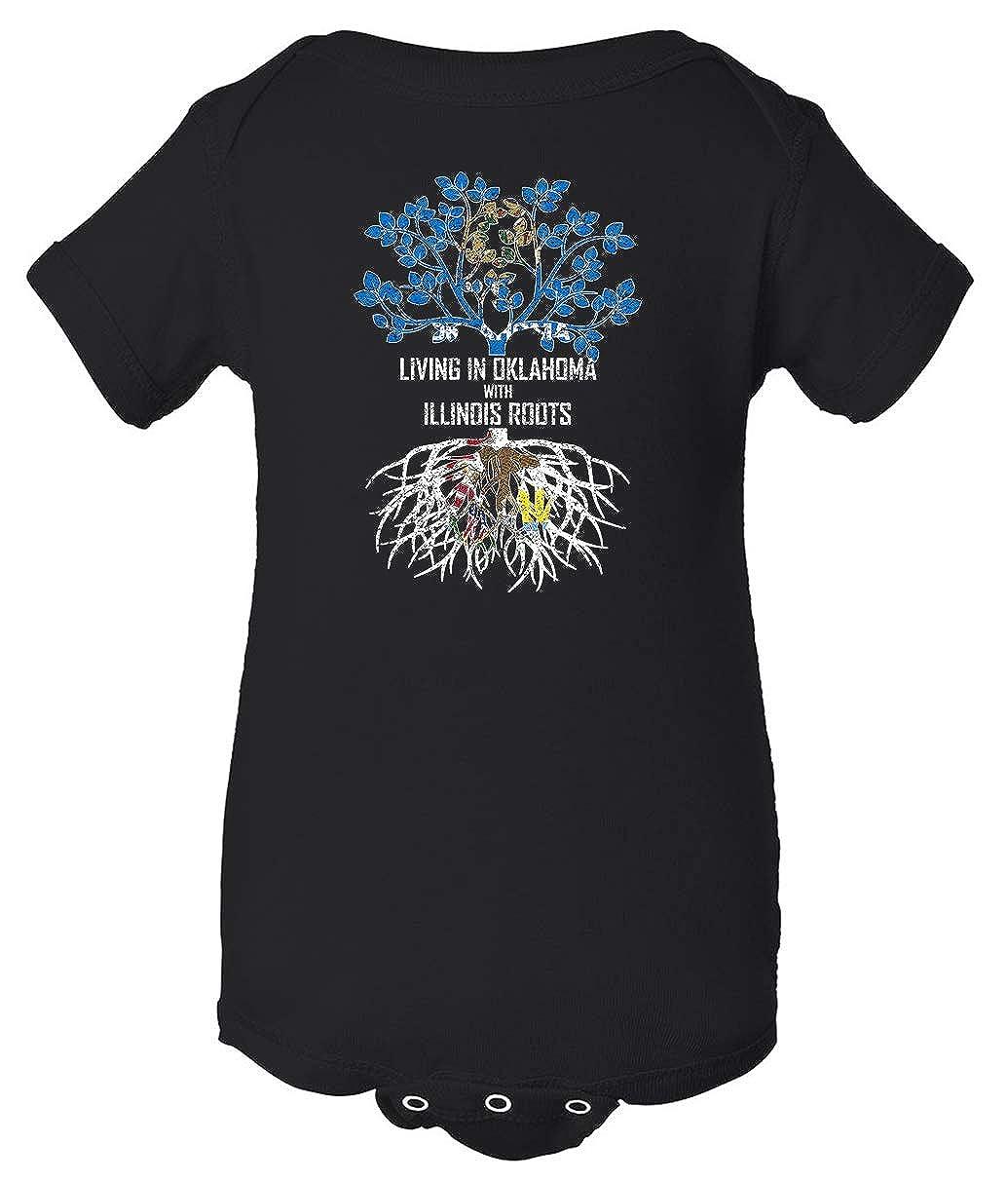 Tenacitee Babys Living in Oklahoma Illinois Roots Shirt