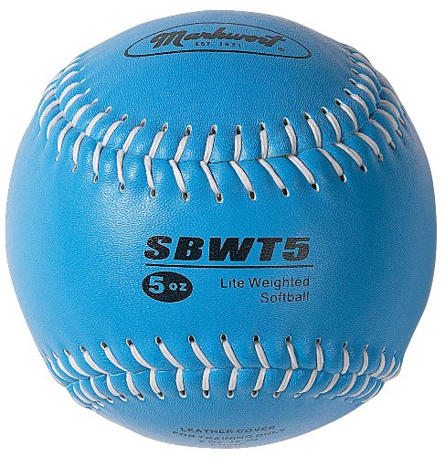 Markwort Weighted 12-Inch Softball-Leather Cover, Blue
