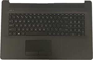 Replacement for HP Pavilion17BY 17-by 17CA 17-CA Laptop Upper Case Palmrest Backlit Keyboard Touchpad Assembly Part L22749-001
