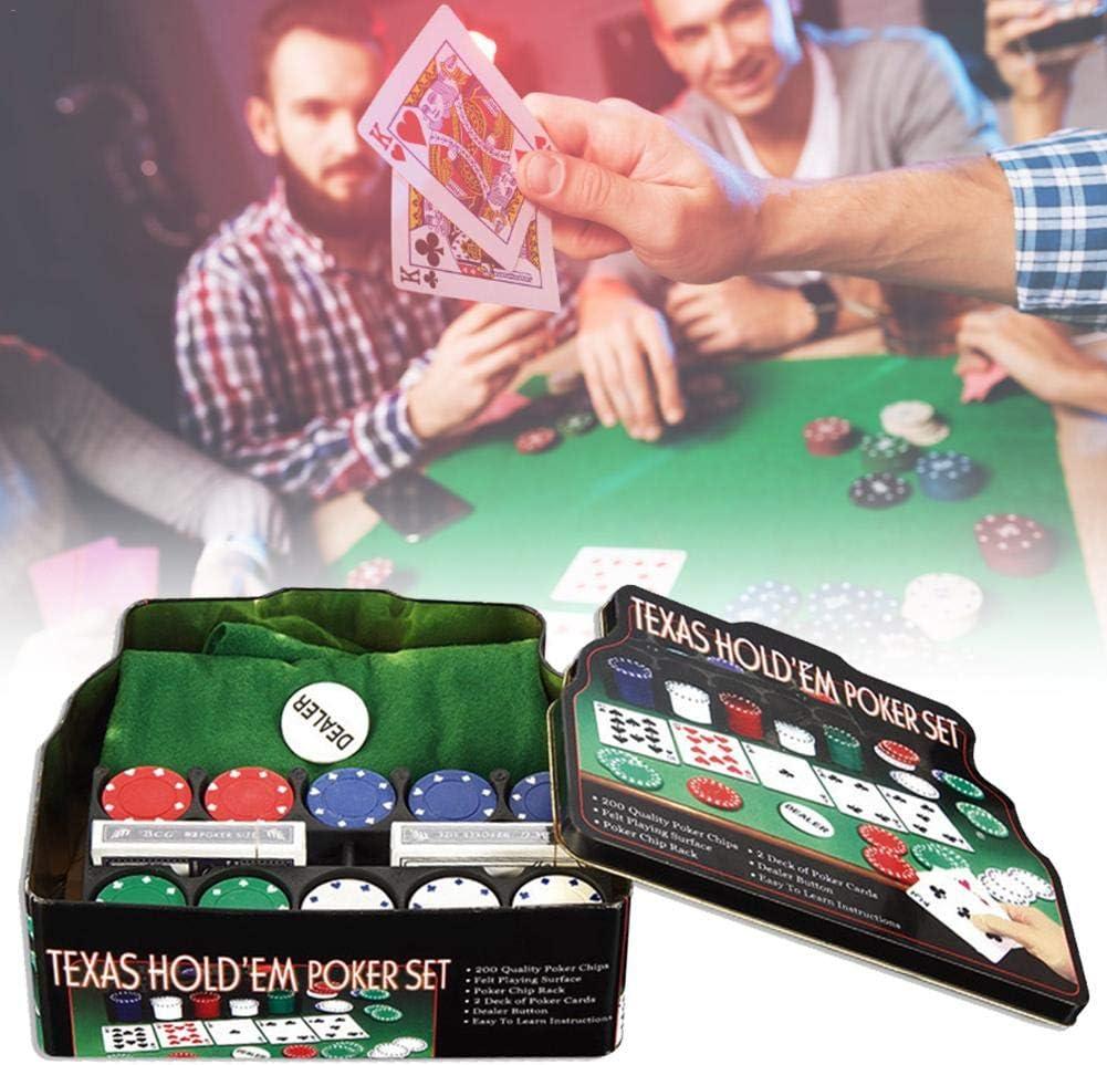LUCYPAPASHOW Juego de fichas de póker con Estuche de Almacenamiento de Chips Pokers y más, Juego de fichas para Juegos de Blackjack de Texas Holdem Cozy: Amazon.es: Deportes y aire libre