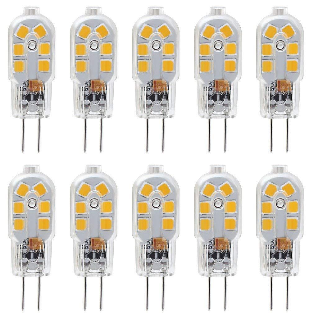 AC//DC 12 Volt Warm White 3000K Bi-Pin Base KINDEEP G4 LED Bulb 10-Pack 20W Halogen Bulb Equivalent