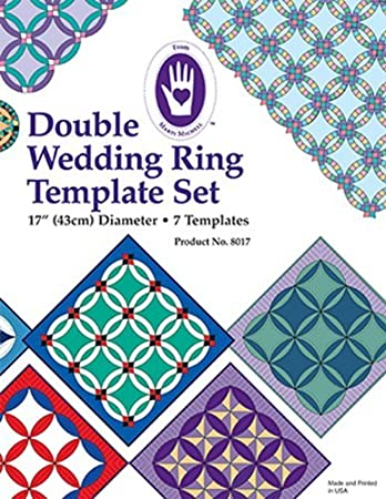 Amazoncom Marti Michell Double Wedding Ring Template